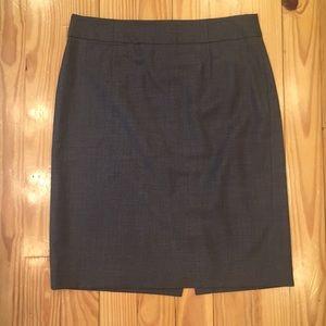 J. Crew Gray Wool Pencil Skirt Super 120's